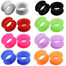2PCS Thick Silicone Eyelet Earskin Ear Plugs Tunnels Ear Gauges Piercing 2g-1""