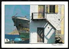 Posted 1985 Art photo of a Greek house/ boats. Taken by Maurice Subervie