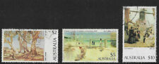 Australia $2 $5 and $10 stamps paintings art used