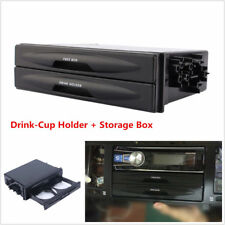 Universal Car truck Storage Box Din Cup Holder Large Space Radio Pocket Tide
