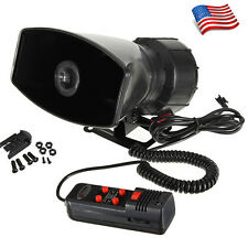 12V Loud Horn Car Van Truck 5 Sound Tone Speaker With PA System Mic Max 300db US