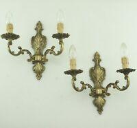 Antik Rokoko Stil Wandlampen Messing NEUE Fassungen Verkabelung Kerzenhülsen Led
