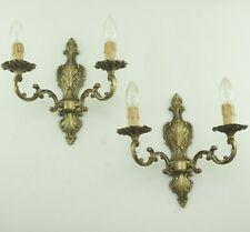 Antique Rococo Style Wall Lights Brass New Sockets Cabling Kerzenhülsen LED -