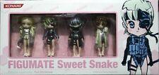 KONAMI Metal Gear Solid 4 MGS4 FIGUMATE Sweet Snake Figure 4 SET RAIDEN