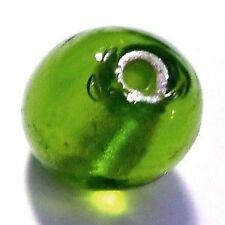 10 x hoja de plata redonda granos - 10mm-Verde Lima a4224