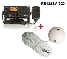 Simrad RS12 Funkgerät DSC ATIS + Evermore SA-920 GPS Empfänger RS-12 + SA920 NEU