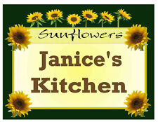 PERSONALIZED SUNFLOWERS DESIGN KITCHEN MAGNET