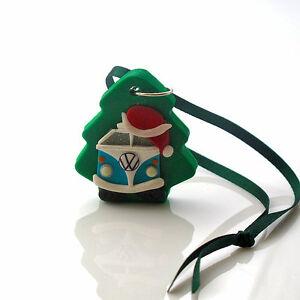 handmade Christmas decoration splitscreen camper van tree personalised Xmas