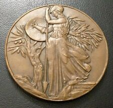 FRANCE / ALLIANCE FRANCAISE / 1955 / Bronze Medal / ART by CORBIN / 50 mm / M84