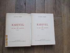 LUCIEN FABRE rabevel ou mal des ardents tome 1 & 2 monaco 2900 ex port folio