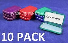 ORTHOSIL for Braces Silicone Wax Irritation relief -  (10 Pk) Orthodontic Dental