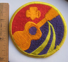 RARE 1974-1979 Girl Scout WORLD OF THE ARTS Senior Interest Patch Guitar NEW