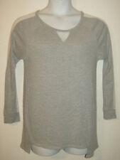 Lavish Maternity Women Sz XL Gray Casual Shirt Top Blouse Long Sheer Sleeves USA