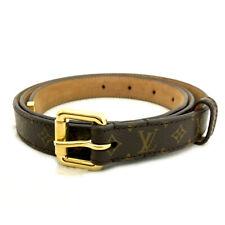 Louis Vuitton Monogram Ceinture Brown Leather 88cm Mens Belt /90778