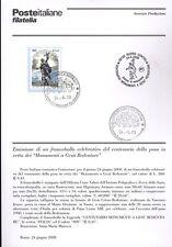 ITALIA 2000 MONUMENTO A GESU' REDENTORE   BOLLETTINO COMPLETO DI FRANCOBOLLI FDC