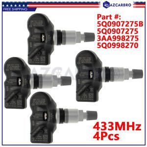 For 2020 Audi RS3 RS-3 New 433mhz Black Stem TPMS Set 5Q0907275B 9A790727502