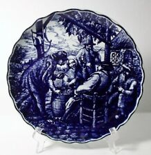 """BOCH DELFT BLUE Jolly Tavern 10"""" Wall Plate EXCELLENT"""