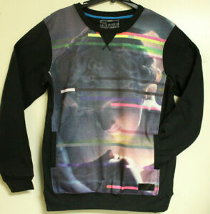 Entree LS Mens Black Vaporwave Sweatshirt with Pockets Size L