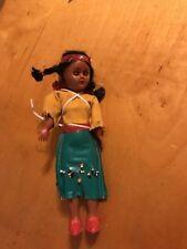 Vintage 1970 indian plastic doll UC12