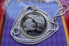 """HARRY POTTER 2002 FLYING CAR Isle of Man Pendant 28"""" Italian Silver Rope Chain."""