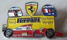 RARE PIN'S F1 FORMULA ONE FERRARI CASQUE PILOTE JEAN ALESI GERHARD BERGER