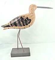 Shore Bird Hand carved and painted wood on stand Beach decor (B)