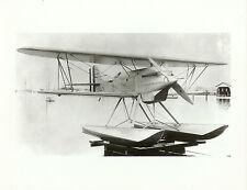 """WWII U.S. NAVY SEAPLANE A-6970 BIPLANE AIRPLANE 5"""" x 7"""" B & W Photograph"""