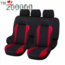 10 Part Universal Car Seat Covers Front Rear Head Rests Full Set Auto Seat Cover