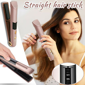 Ceramic Mini Hair Curler Hair Straightener Quick Styling Long-Lasting Rose Gold