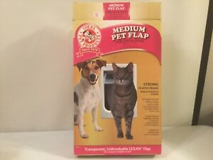 NEW OPEN BOX IDEAL MEDIUM PET FLAP CATS OR DOGS.  GRN