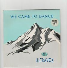 "Ultravox- We Came To Dance UK clear vinyl 7"" single"