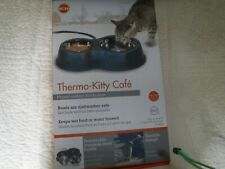 New listing thermo kitty cafe heated outdoor double diner