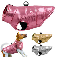 Chihuahua Clothes Dog Winter Coat Waterproof Puffer Jacket Vest Apparel Pug Pink
