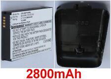 Carcasa Negra+ Batería 2800mAh tipo RHOD100 RHOD160 para HTC Touch Pro II