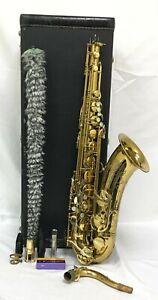Vintage Selmer USA Tenor Saxophone w/ Hard Case, Pad Saver & Accessories 823035