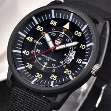 Military Mens Stainless Steel Luminous Dial Date Luxury Sport Wrist Watch Nice