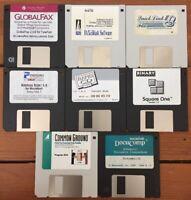 Mixed Lot Vtg 1990s Fax + Document Software Install Floppy Disks Mac Macintosh