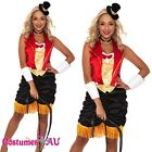 Ringmaster Circus Lion Tamer Showgirl Fancy Dress Halloween Costume Outfit