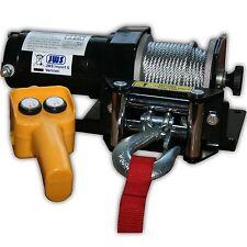 Elektrische Seilwinde ATV Quad Winde 12V 2000Lbs Quadwinde Elektrowinde 12 Volt