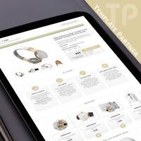 Ebay Design Vorlage ★ Ebay Template CRYSTAL Responsive Templates beige + Editor