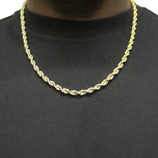 """18K GOLD PLATED RUN DMC HIP HOP ROPE CHAIN DOOKIE 8mm x 24"""" FILLED HIGH QUALITY"""