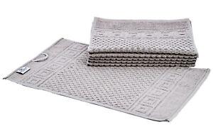 6 X Guest Towel Compress 30x50 CM Grey 100% Bw Griechenbordüre Waffle Pattern