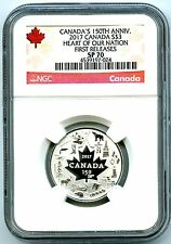 2017 $3 CANADA 150TH SILVER NGC SP70 HEART OF OUR NATION FIRST RELEASES