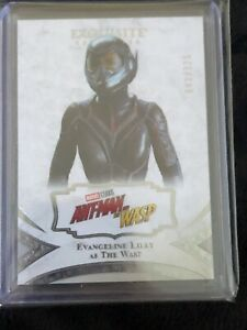 2021 UD Marvel Black Diamond Evangeline Lilly as The Wasp Exquisite 043/125 #21!