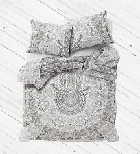 Indian humasa hand wall hanging cotton queen duvet quilt cover with pillow cover