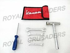 BRAND NEW VESPA COMPLETE TOOL KIT SET IN RED COLOUR POUCH