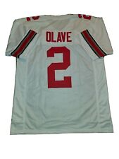New listing New CHRIS OLAVE 4XL Ohio State College Custom Stitched Football Jersey Men's