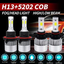 4x Combo H13 9008 LED Headlight + 5202 Fog Light Bulb For 2008-2012 Ford Escape