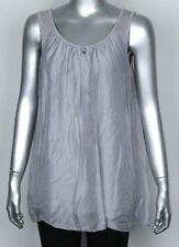New Italian Ladies Lagenlook Sleeveless Vest Quirky Casual Comfy Summer Silk Top
