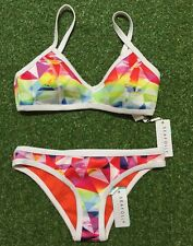 New Seafolly Future Sound Scuba Bralette & Scuba Hipster - Size AU10 / US6